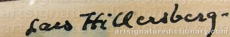 Signature by Lars HILLERSBERG