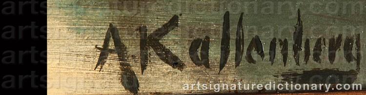 Signature by Anders KALLENBERG