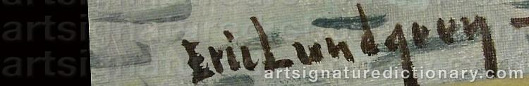 Signature by Eric LUNDGREN