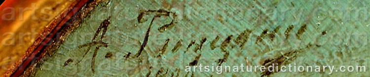Signature by Alexander Antonovich RIZZONI