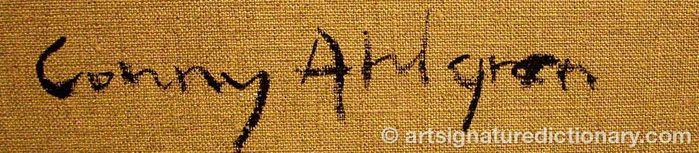 Signature by Conny AHLGREN