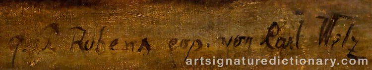 Signature by Peter Paul RUBENS