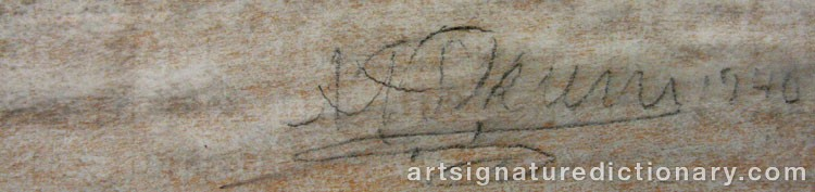 Forged signature of Nils Nilsson (Sami Artist) SKUM