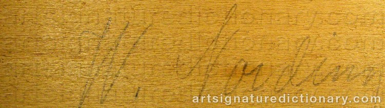 Signature by William NORDING