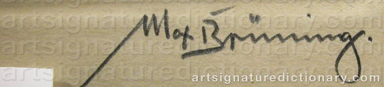 Signature by Max BRÜNNING