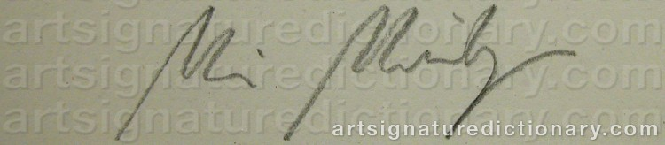 Signature by Maria MIESENBERGER