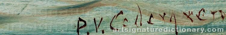Signature by Per Wilhelm CEDERGREN