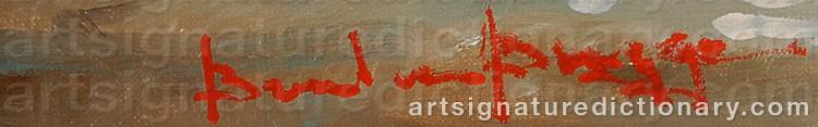 Signature by Barend Van Der BRUGGEN
