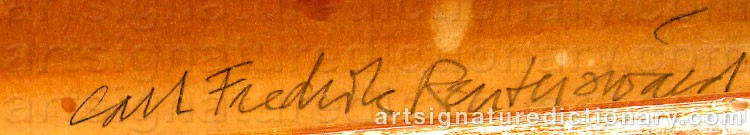 Signature by Carl Fredrik REUTERSWÄRD