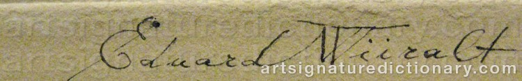 Signature by Eduard WIIRALT