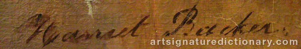Signature by Harriet BACKER