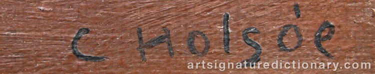 Forged signature of Carl HOLSÖE