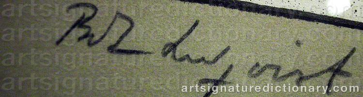 Signature by Bo Erik 'Bo E.' LUNDQVIST