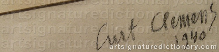 Signature by Curt CLEMENS
