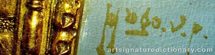 Signature by Hugo Vilfred 'Hugo Vp' PEDERSEN
