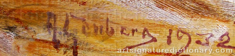 Signature by Anton GENBERG