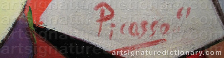 Forged signature of Pablo PICASSO