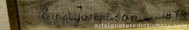 Forged signature of Ernst JOSEPHSON