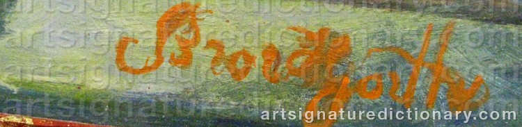 Signature by Bror HJORTH