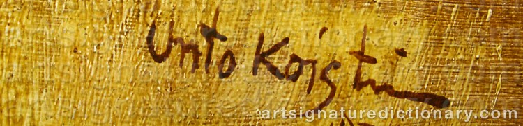 Forged signature of Unto KOISTINEN
