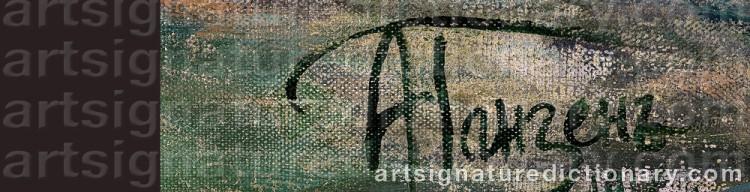Signature by Alexei Vasilievich HANZEN