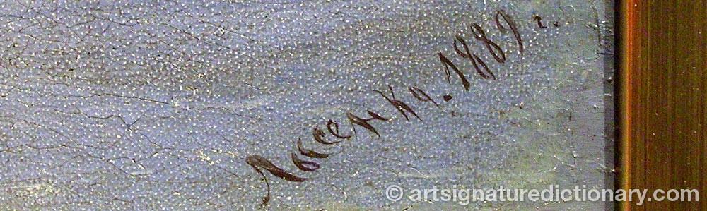 Signature by Kozma Andreevich LYSENKO