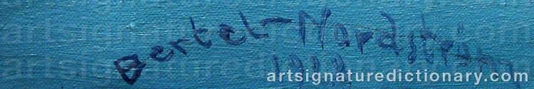 Signature by Gustaf Adolf Engelbert 'Bertel' BERTEL-NORDSTRÖM