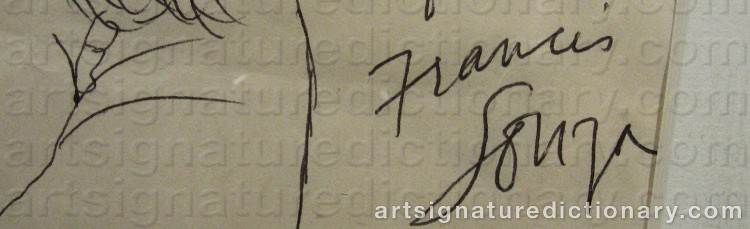 Signature by Francis Newton SOUZA