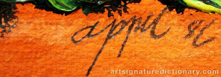 Forged signature of Karel APPEL
