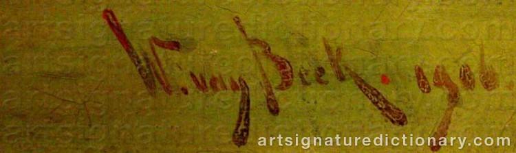 Signature by W Van BEEK