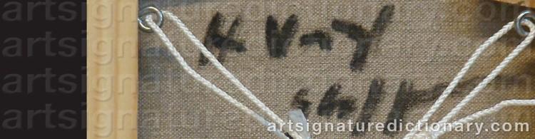 Signature by Hans Voigt STEFFENSEN