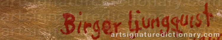 Signature by Birger LJUNGQUIST