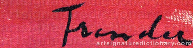 Signature by Helge FRENDER
