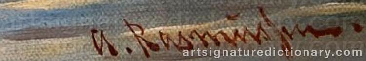 Signature by Georg Anton RASMUSSEN
