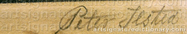 Signature by Peter Vilhelm ILSTED