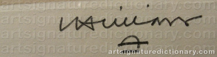 Signature by Eduardo CHILLIDA