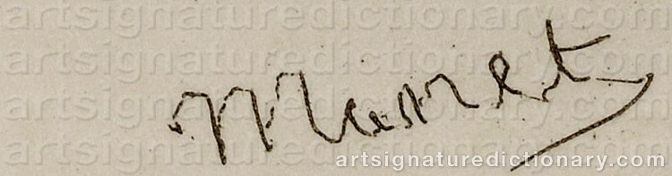 Signature by Edouard MANET