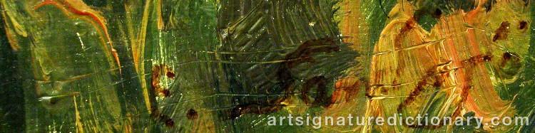 Forged signature of John Erik 'E. Sandsjö' JOHANSSON