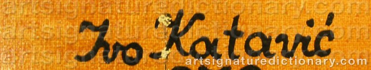 Signature by Ivo Roberto KATAVIC