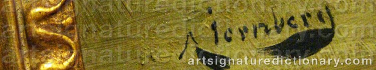 Signature by August JERNBERG