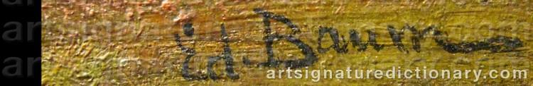 Signature by Ed. BAUM