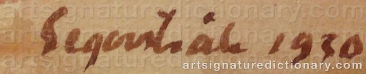 Signature by Lennart SEGERSTRÅLE