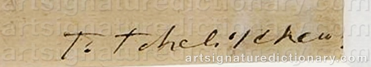 Signature by Pavel Feodorovich TCHELITCHEW