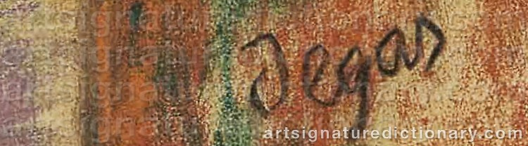 Signature by Edgar DEGAS