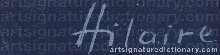 Signature by Camille HILAIRE