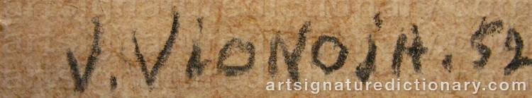 Forged signature of Veikko VIONOJA