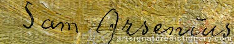 Signature by Sam ARSENIUS