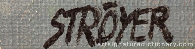 Signature by Poul STRÖYER
