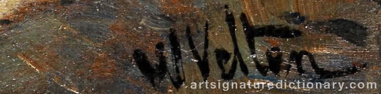 Signature by Wilhelm VELTEN