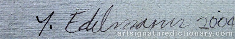 Forged signature of Yrjö EDELMANN